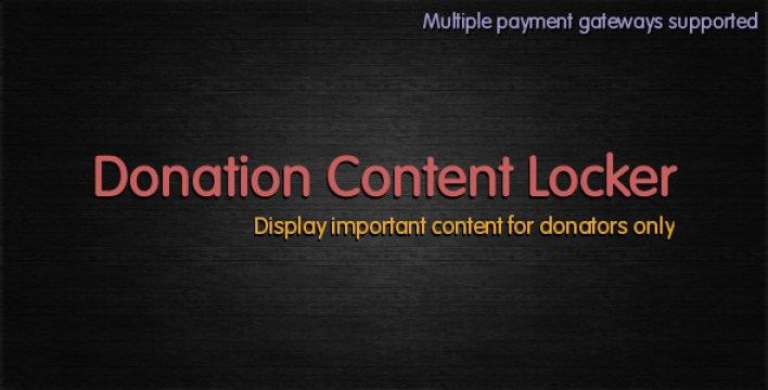 Donation content locker plugins wordpress recevoir dons collecte fonds
