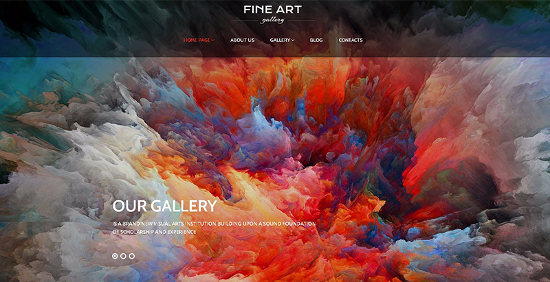 Fine art themes wordpress create website works of art