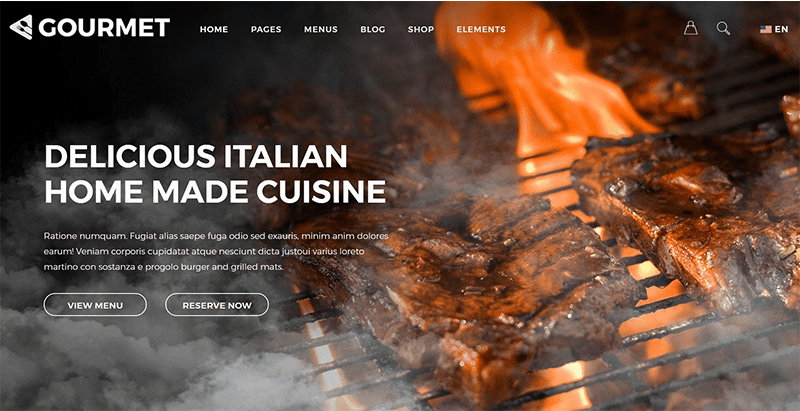 미식가 테마 WordPress 웹 사이트 만들기 레스토랑 비스트로 베이커리