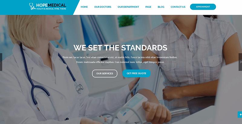 meilleurs thèmes WordPress - Hope medical