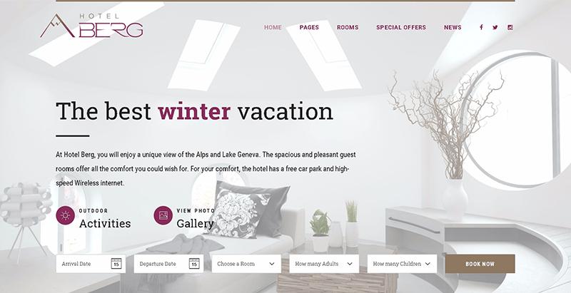 10 thèmes WordPress pour créer un site Web d'hôtel
