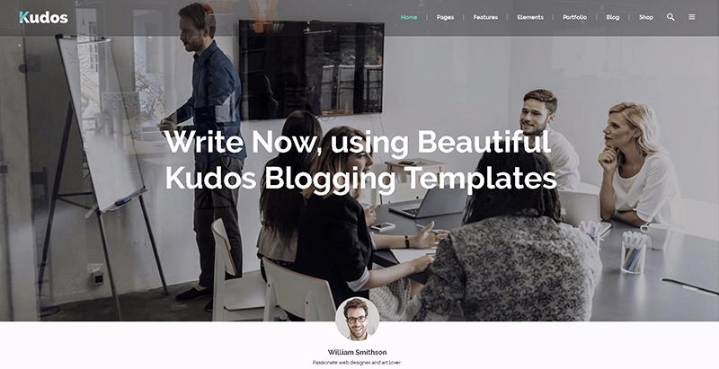 Kudos themes wordpress creer site web freelance agence creative