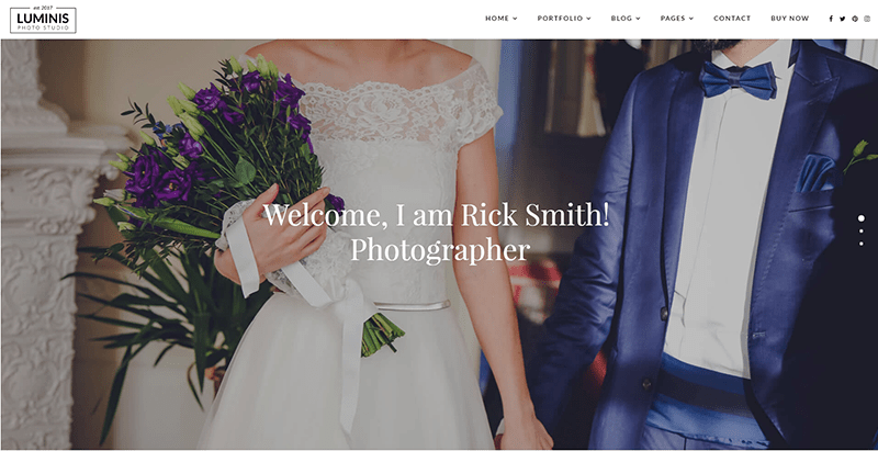 Luminis themes wordpress creer site web mariage ceremonie nuptiale evenement