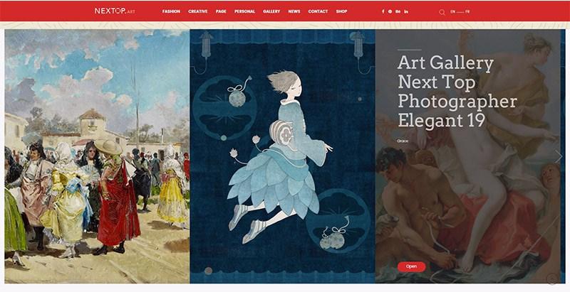 Nextop themes wordpress site web photographe artiste