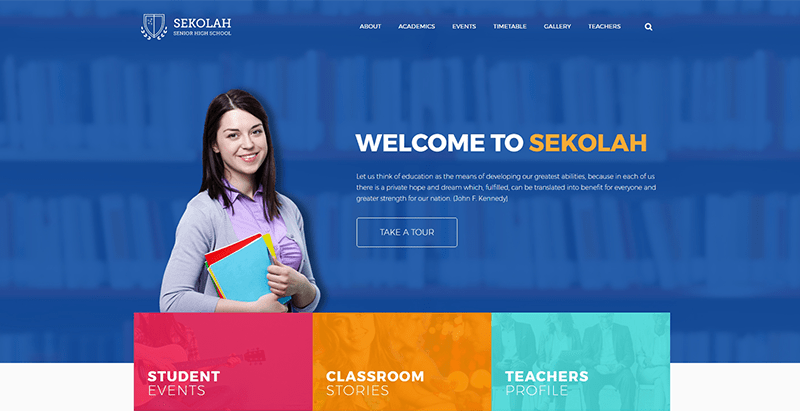 Sekolah themes wordpress создать сайт колледж средняя школа университет