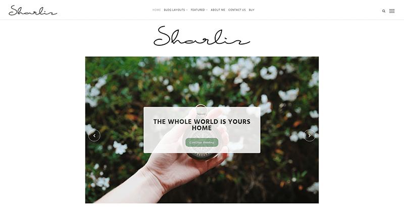 Sharliz themes wordpress creer blog