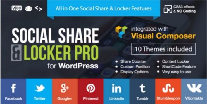 I plugin di social share locker pro wordpress bloccano il contenuto del sito web