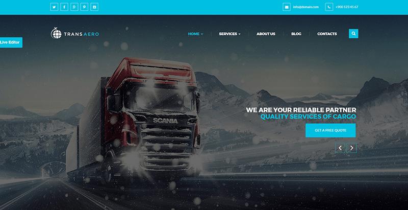 10 Thèmes WordPress Pour Créer Un Site Web D'entreprise De Logistique