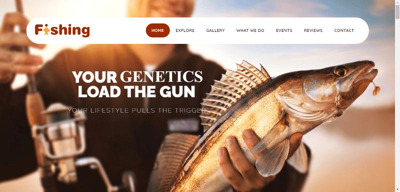 thèmes WordPress pour créer un site web de club de pêche - Veda aquarium