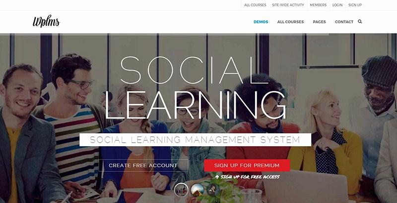 Wplms themes wordpress creer reseau social site web communautaire