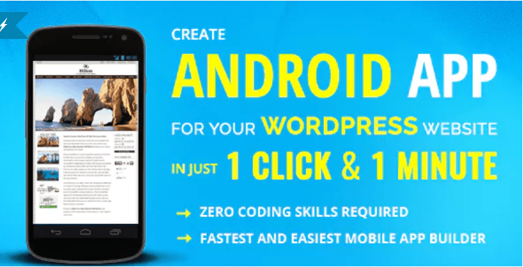 plugins WordPress pour transformer votre site web en application mobile - Wapppress builds android mobile app for any wordpress website