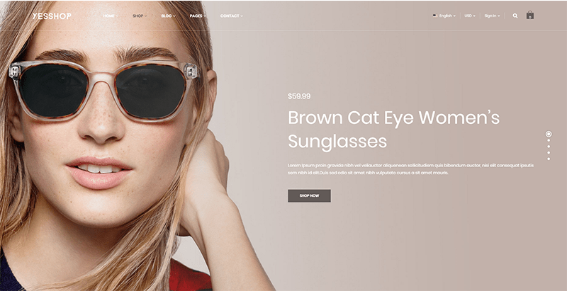 Yesshop themes wordpress creer boutique en ligne site ecommerce super market super marche