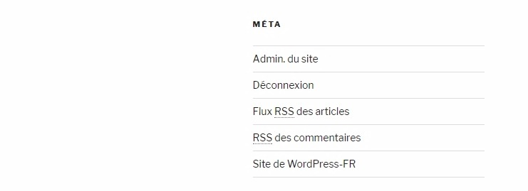 Meta site wordpress