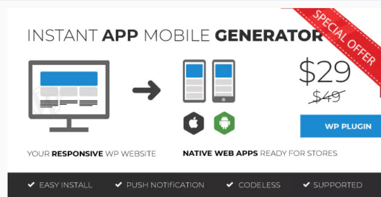 transformer votre site web en application mobile - Mozable instant mobile app generator by digitalborder