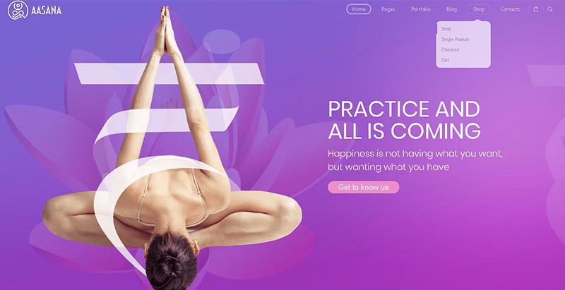 Aasana themes wordpress creer site web clinique sante hopital centre santé