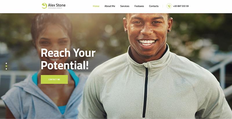 meilleurs thèmes WordPress de club de fitness Alex stone