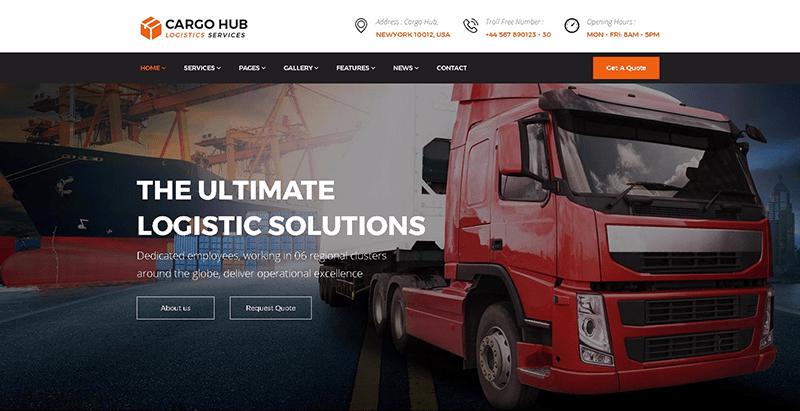 meilleurs thèmes WordPress - Cargohub