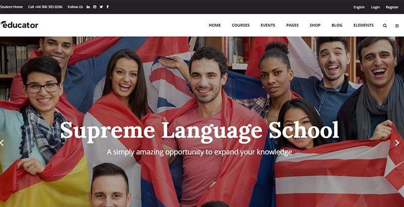 Educator themes wordpress creer site internet e learning universite college ecole