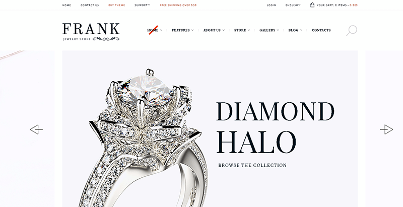 Frank jewelry themes wordpress creer site e commerce boutique en ligne achat vente