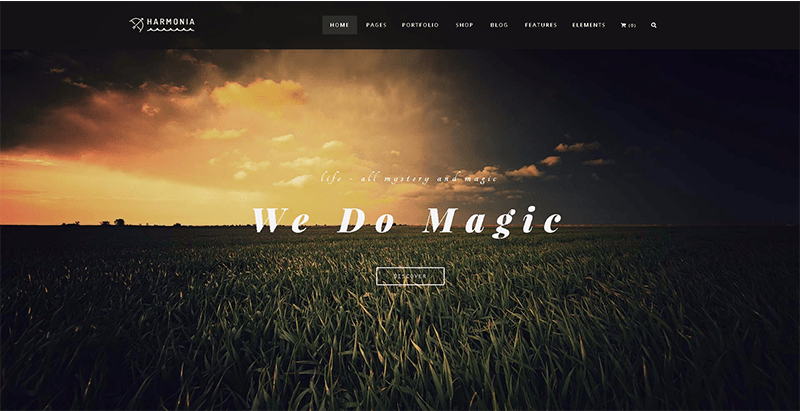 Harmonia Themes Wordpress Creer Site Internet Photographe Studio Photo