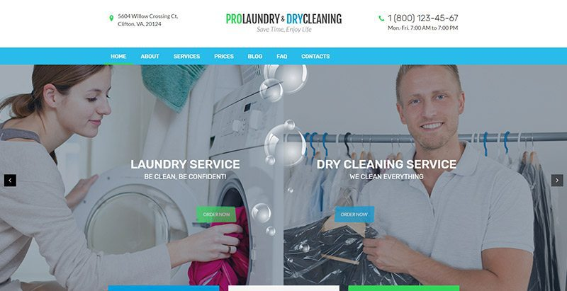 meilleurs thèmes WordPress - Laundry dry cleaning