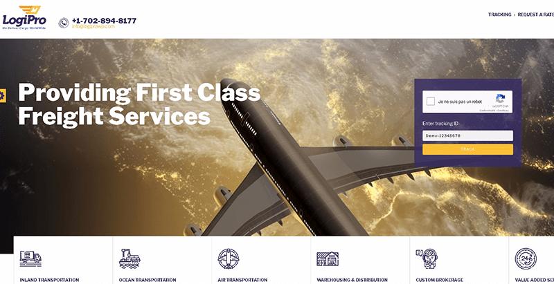 Logipro themes wordpress creer site web entreprise transport logistique fret