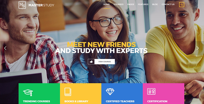 Masterstudy themes wordpress creer site internet e learning universite college ecole