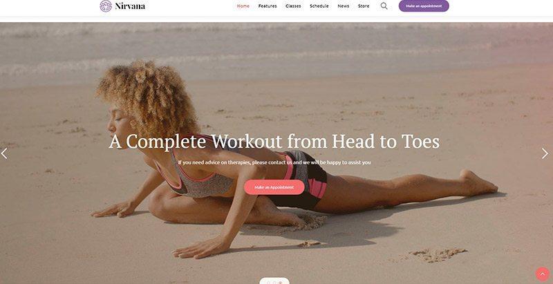 Nirvana Themes Wordpress Creer Site Web Clubs Fitness Yoga