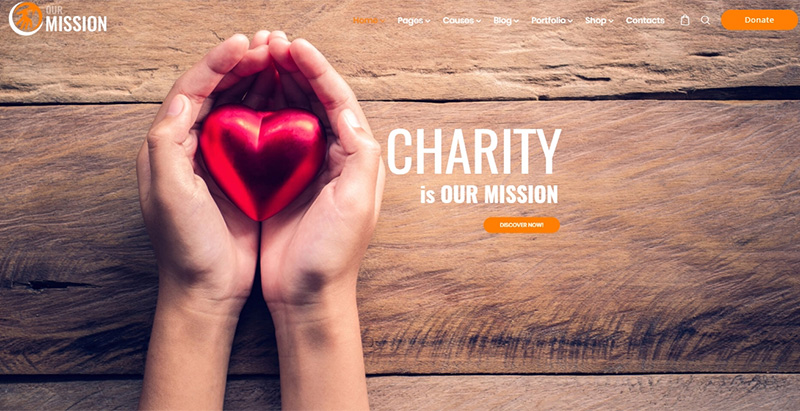 Our mission themes wordpress creer site internet organisation humanitaire ong mecene