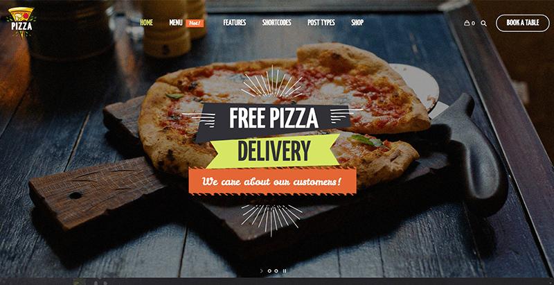 Pizza restaurant themes wordpress creer site web pizzeria restaurant boulangerie vendre pizza