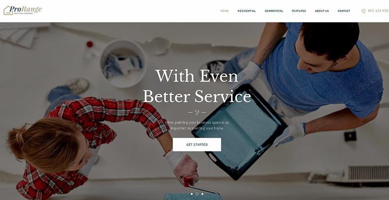 Prorange themes wordpress creer site web entreprise construction renovation