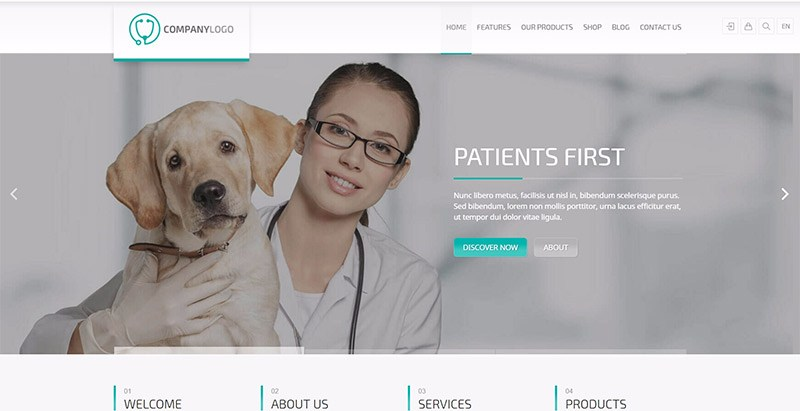 Rt theme 20 care themes wordpress creer site web eleveur chien animaux veterinaire