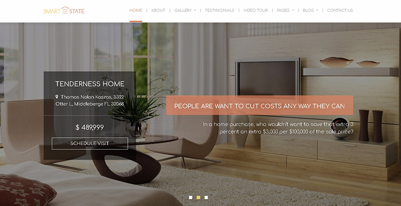 Smart estate themes wordpress creer site internet agence immobiliere