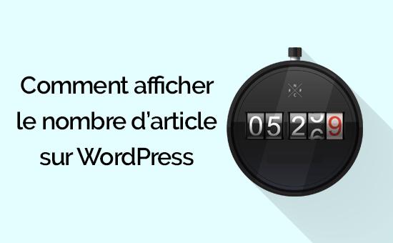 comment afficher le nombre darticles sur WordPress.png