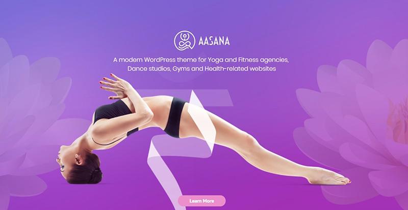 meilleurs thèmes WordPress de club de yoga - Aasana