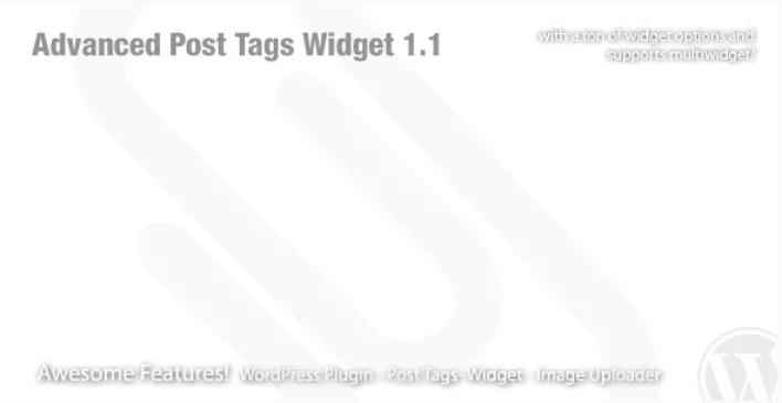Advanced post tags widget wordpress plugin