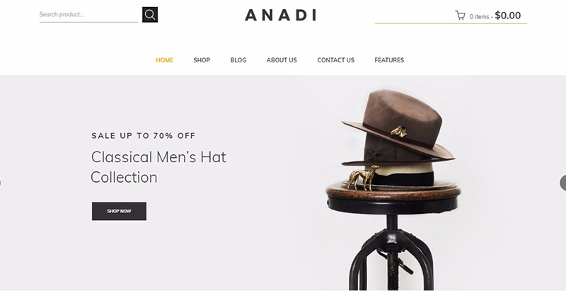Anadi themes wordpress creer site ecommerce boutique en ligne