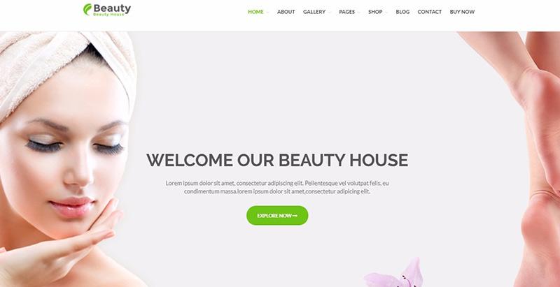 Beautyhouse themes wordpress creer site internet salon beaute spa coiffure