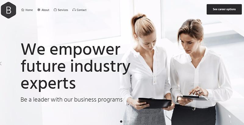 Bridge themes wordpress creer site internet assurance agence entreprise