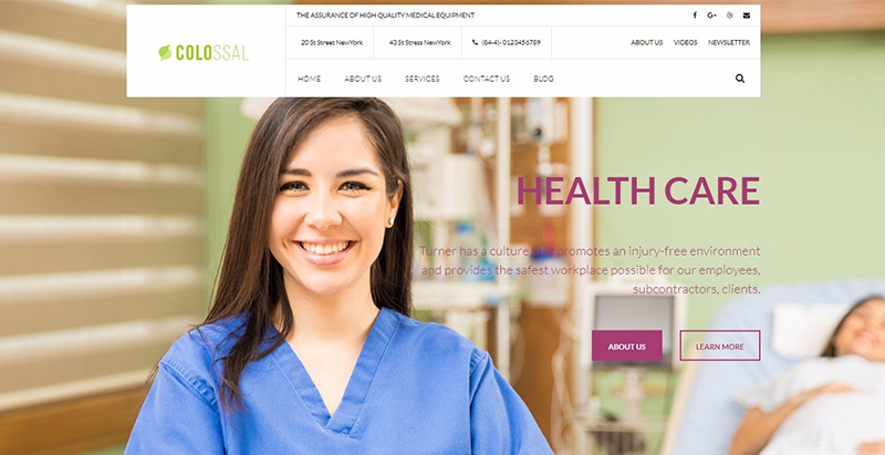 Colossal themes wordpress creer site internet formation hospitaliere medical medecin