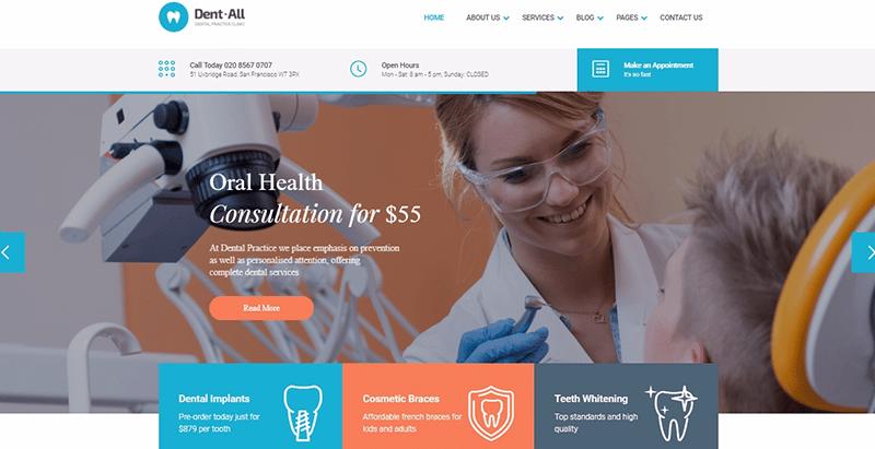 10 thèmes WordPress pour créer un site internet de dentiste