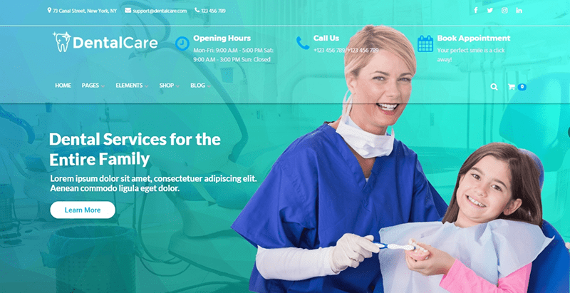 Dental Care Themes Wordpress Creer Site Internet Dentiste Medecin
