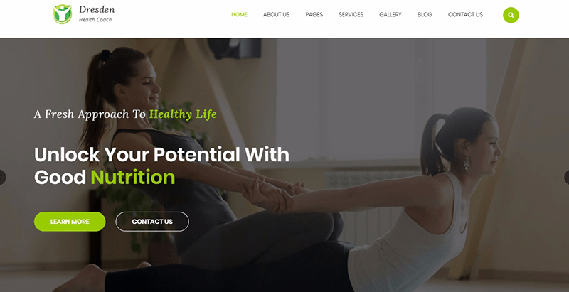 Dresden themes wordpress creer site web coach de sante developpement personnel