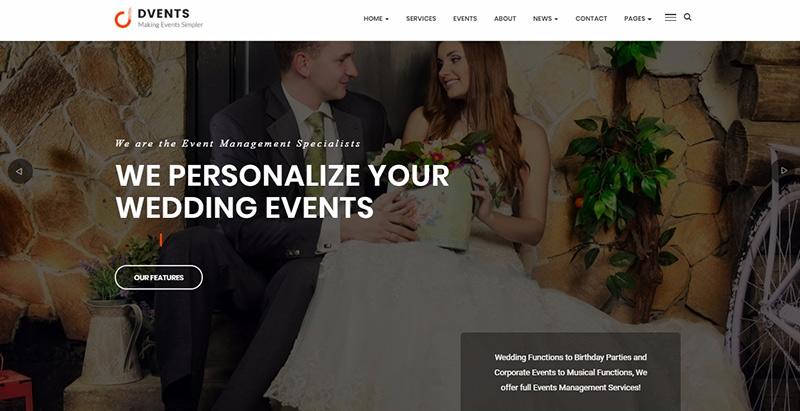 10 Temas de WordPress para crear su sitio web de bodas | BlogPasCher