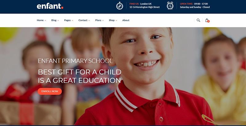 Enfant Themes Wordpress Creer Site Internet Educatif E Learning