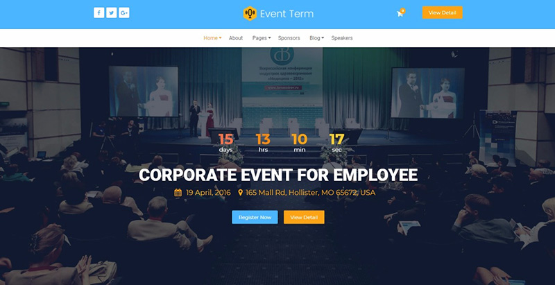 Event term themes wordpress creer un site internet entreprise agence evenementielle