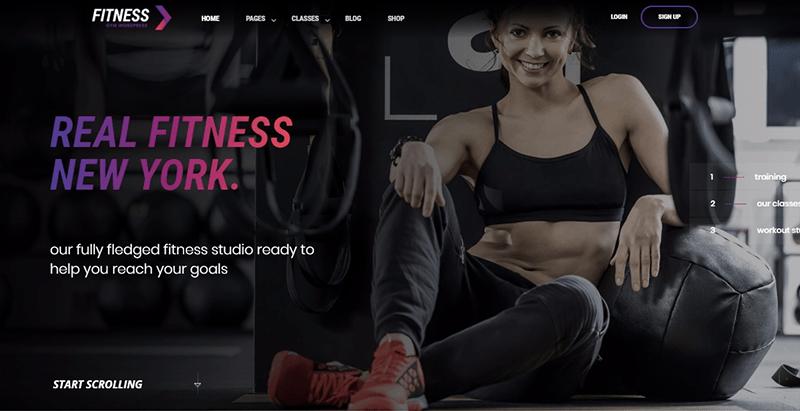 Temas de ginásio de fitness wordpress criar site clube fitness ginásio equipe de esporte