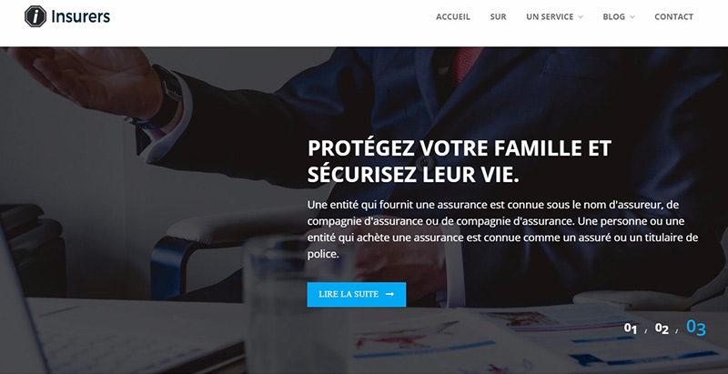 Insurers themes wordpress creer site internet assurance agence entreprise
