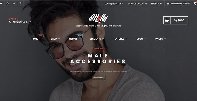 Molly Themes Wordpress Creer Site Ecommerce Boutique En Ligne