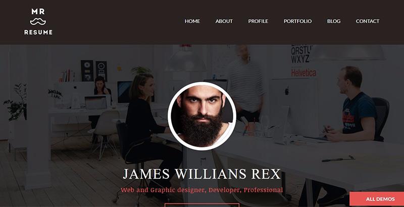 Morgan themes wordpress creer site web cv entreprise agence pme